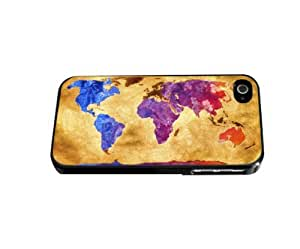 Antique World Map with Colorful Countries Hard Snap on Phone Case (iPhone 4/4s)