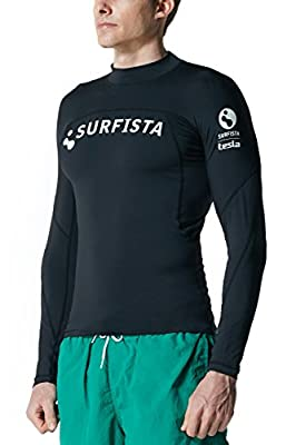 Tesla Surfista Men's Performance Long Sleeve Crew Athletic Fit Rashguard T71