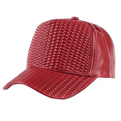 URIBAKE Outdoor Sport Baseball Cap Leather Sunscreen Hat