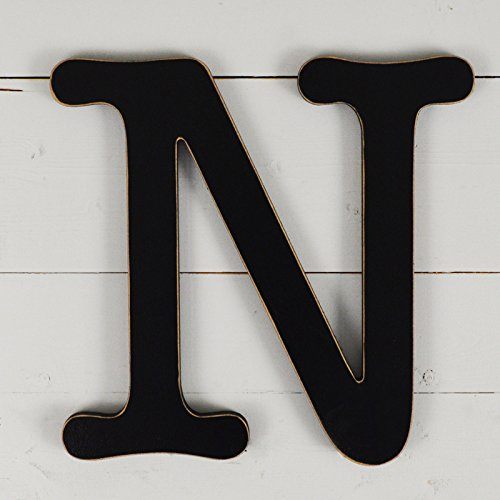 11.5'' Typewriter Wall Decor Letter ''N''- black by UNFINISHEDWOODCO