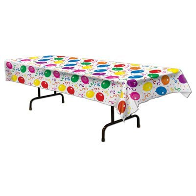 108 HAPPY BIRTHDAY Plastic Tablecloth