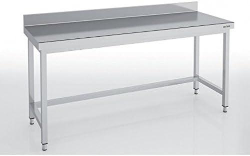 Respaldada mesa acero inoxidable serie 700 x P600, L1400 x H850 ...