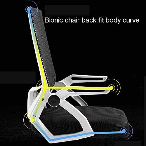DXX Chaise pivotante, Bureau Réception Président - Style Moderne Chaise de bureau de grande hauteur pour Bureaux permanents réglables - rabattable Bras Drafting Table Chaise