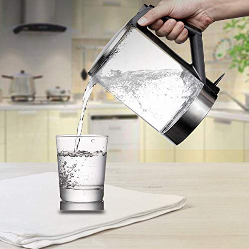 BPA-Free Electric Kettle, 1000W 1.5L Fast Boiling Glass Tea