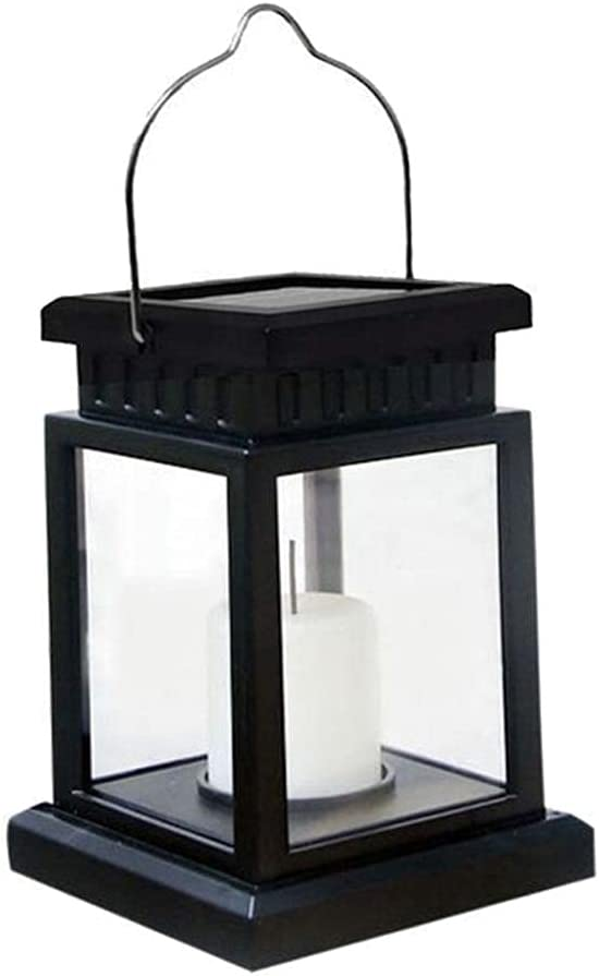 1Pcs Solar Hanging Lantern-Candle Flickering Flame Effect LED Solar Lights, Warm White, Decorative Lighting with Stakes for Patio, Garden, Lawn, Deck, Umbrella, Tent, Tree, Yard- Waterproof,5x3.5IN