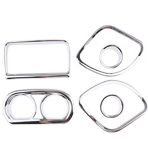 B Blesiya Chrome Dash Gauge Cover Trim kit for Harley Touring Electra Street Road Glide: