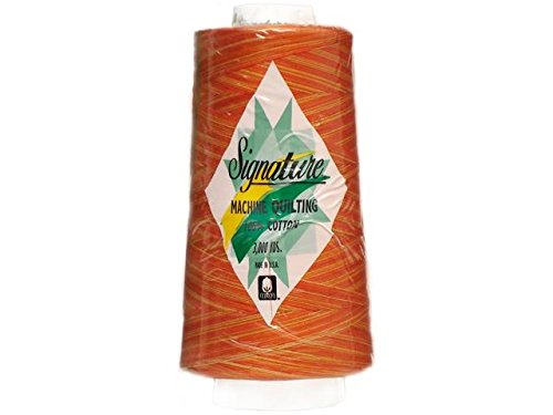 Signature 3 Ply Cotton Quilting Thread, 40wt/3000 yd, Variegated Rusty Oranges (Signature Variegated Quilting Thread)