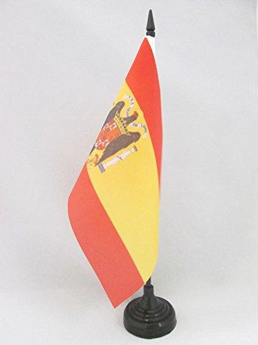 BANDERA de MESA de ESPAÑA DE FRANCO 21x14cm - BANDERINA de DESPACHO FRANQUISTA ESPAÑOLA 14 x