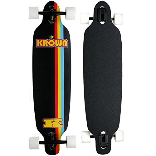 Krown Elite Black Stripe Elite Complete Longboard, - Longboards Krown