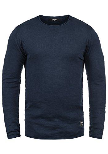 Redondo Con Cuello De solid 100 Jersey Algodón Insignia Krimmich Blue 1991 Hombre Para Punto Suéter 0wpzSwqA