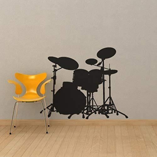 - Drum Set Vinyl Wall Decal for Rock Stars - 58.6