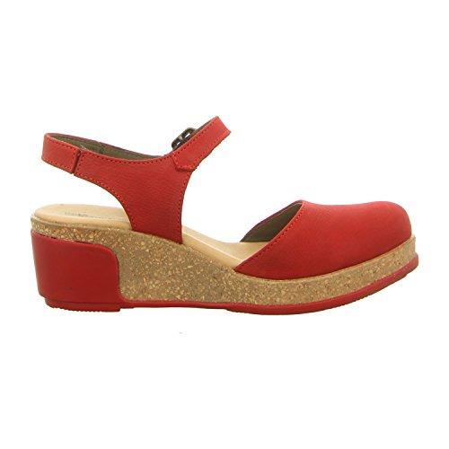 EL NATURALISTA NF5001 sandalias de cuña negro mujeres negras cerradas dedo del pie Rosso