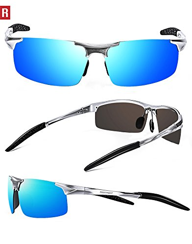 7ab6dcd00b ROCKNIGHT Driving Polarized Sunglasses For Men UV Protection Ultra  Lightweight Al Mg Golf Fishing Sports Sunglasses