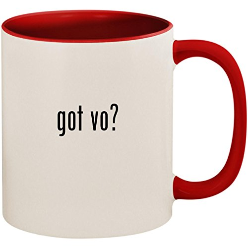 got vo? - 11oz Ceramic Colored Inside and Handle Coffee Mug Cup, Red