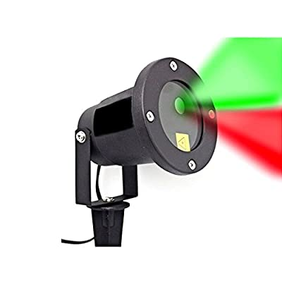 DUYI Premium Red & Green LED Christmas Laser Light Show, Decorating Your Home With Amazing Glittering Lighting In Minutes