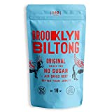 Brooklyn Biltong - Air Dried Grass Fed Beef Snack, South African Beef Jerky - Whole30 Approved, Paleo, Keto, Gluten Free, Sugar Free, Made in USA - 16 oz. Bag (Original) - Packaging May Vary