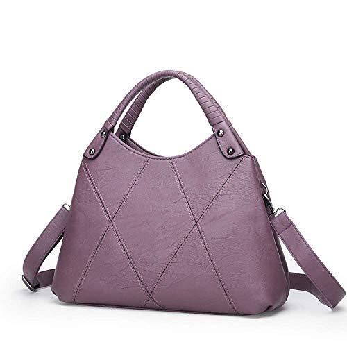 Tamaño Púrpura color 14 Eeayyygch Con Simple 33cm Lingge Bandolera 33 Bolso Púrpura Diagonal qq687