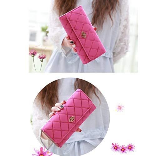 Women Hand Leather Bag PU Comfortable Crown Ladies Girl Wallets Handbag Female Fashion Moneybag Portable Long Purse SeniorMar qREf0