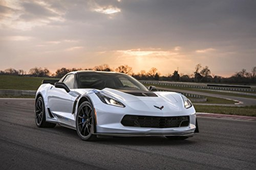 Gifts Delight Laminated 36x24 Poster: Sports Car - 2018 Chevrolet Corvette