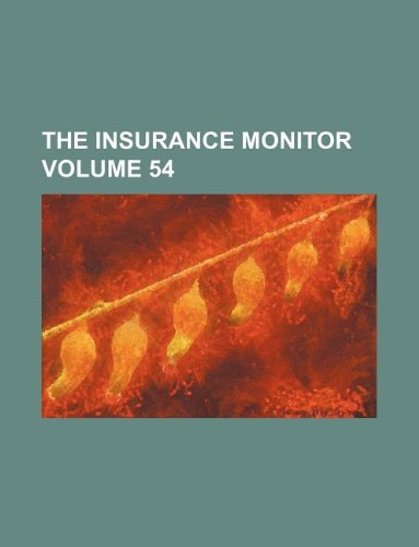 The Insurance monitor Volume 54 Pdf