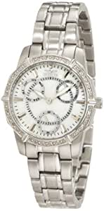 Invicta Women's 1777 Wildflower Mother-Of-Pearl Dial Stainless Steel Watch