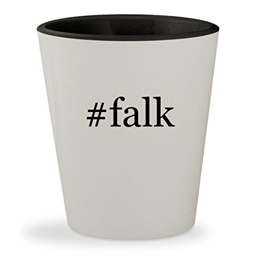 #falk - Hashtag White Outer & Black Inner Ceramic 1.5oz Shot Glass