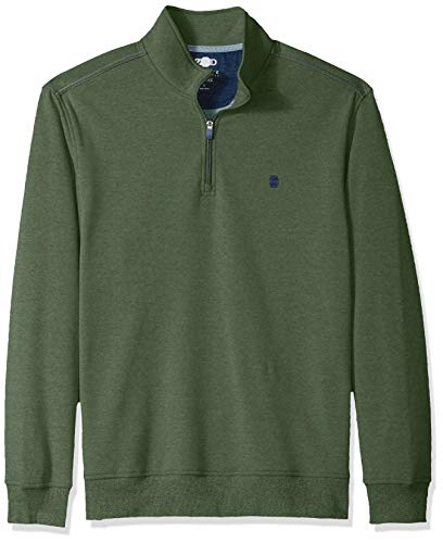 IZOD Men's Advantage Performance Quarter Zip Fleece Pullover, Cilantro, X-Large