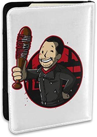 Nuclear Negan Fallout フォールアウト パスポートケース メンズ 男女兼用 パスポートカバー パスポート用カバー パスポートバッグ ポーチ 6.5インチ高級PUレザー 三つのカードケース 家族 国内海外旅行用品 多機能