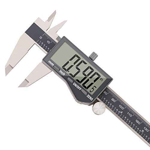 - Stainless Steel Digital Vernier Caliper,Electronic Ruler Measuring Tool 0-6 Inch/150 mm,Inch/Metric Conversion with Large LCD Screen, by FstDgte … (Model 5)