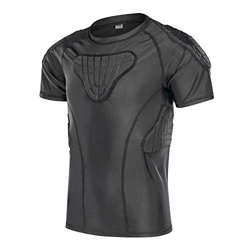 DGXINJUN Padded Compression Shirt Chest Protector Parkour Extreme Exercise Suit for Boys ()