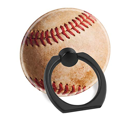 Cell Phone Finger Ring Holder Stand Car Mount Works for iPhone 5 6 7 8 X Plus Samsung Galaxy S8 S9 Ipad-Baseball (Phone Cell Holder Baseball)