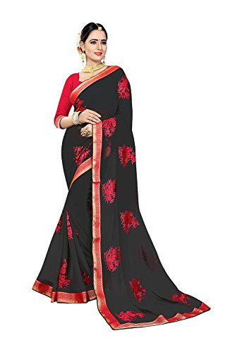Indian Sarees For Women Wedding Black Designer Party Wear Traditional Sari by Dessa Collections