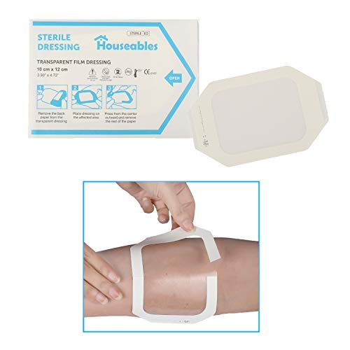 Houseables Transparent Dressing, Waterproof Wound Seal, 4