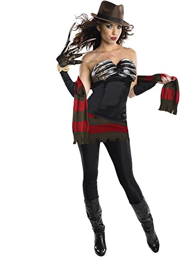(Secret Wishes Women's Nightmare On Elm Street Freddy Corset Style Costume, Multi,)