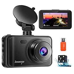 Upgraded Dash Cams Front and Rear Camera 1080P FHD Dual Dash Camera Dashcam for Car DVR Dashboard Camera with Night…