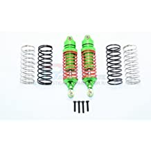 Traxxas Slash 4X4 & Stampede 4X4 VXL Upgrade Parts Aluminum Front Adjustable Spring Damper With Aluminum Ball Top & Ball Ends (1.3mm, 1.5mm, 1.7mm Coil Spring & 4mm Thick Shaft) - 1Pr Set Green