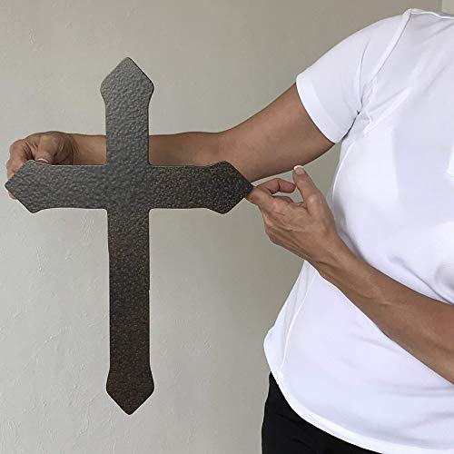 Flared Tip Cross - metal wall art home decor - Choose 11