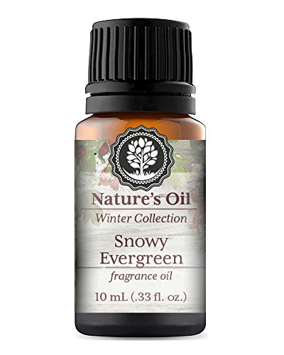 Snowy Evergreen Fragrance Oil 10ml for Diffuser, Making Soap, Candles, Lotion, Home Scents, Linen Spray and Lotion