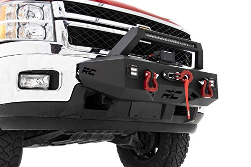 Rough Country EXO Winch Mount System Fits 2011-2018 [ Chevy ] Silverado 2500 3500 10764 Winch Mount System