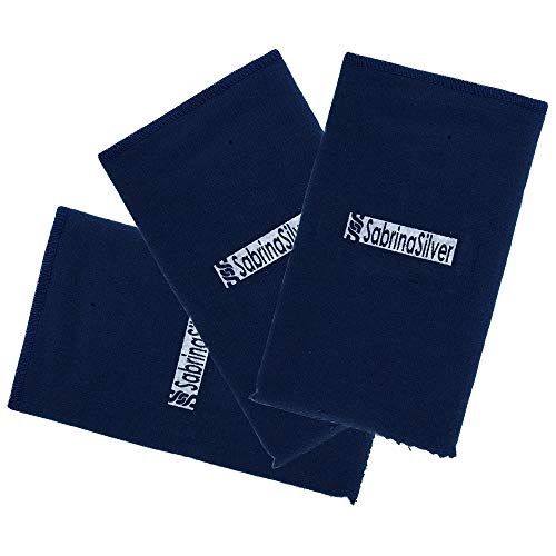 3-Pack Polishing Cloth for Silver, Gold, Brass & Most Other Metals, 12x15 Largest Size