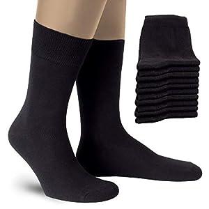 ALL ABOUT SOCKS Calze Uomo e Donna neri (10 paia) – Calze da Uomo per lavoro e tempo libero – Calze di cotone – Made in Europe – OEKO-TEX 100
