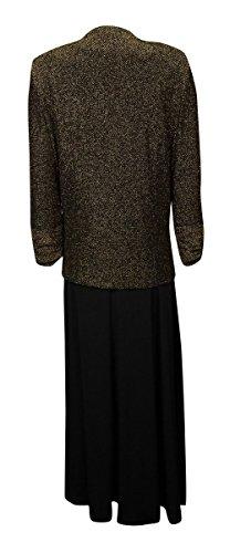 Jessica Howard Women's 2PC Metallic Jersey Dress Jacket Set
