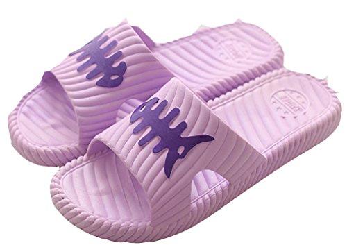 Blubi Donna Pesce Osso Punta Aperta Comfort Doccia E Sandalo Da Spiaggia Sandalo Da Spiaggia Viola