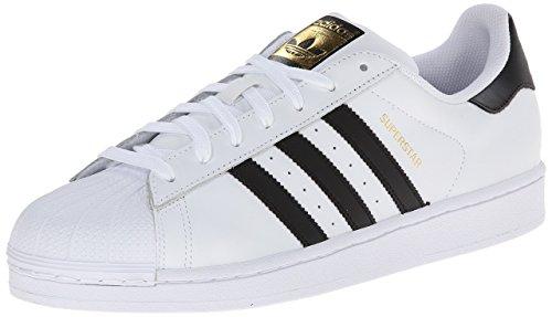 Adidas - Scarpe da ginnastica SuperStar, colore: bianco/nero Bianco/Nero