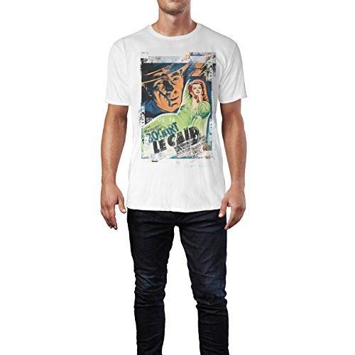 SINUS ART® Le Caid Herren T-Shirts stilvolles weißes Fun Shirt mit tollen Aufdruck