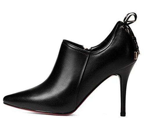 Black De Bout Talons Pointu Hauts Stiletto Soirée Bal Stilettos De Robe De Escarpins Femmes Escarpins Chaussures Soirée awq7AE7