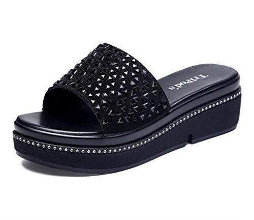 Zapatillas Salvaje Uso Grueso Playa De Moda Del Verano Dyfymx B Fondo Femenina Sandalias Fuera xvnqS0X6w