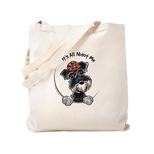 CafePress Boy Schnauzer IAAM Natural Canvas Tote Bag, Cloth Shopping Bag