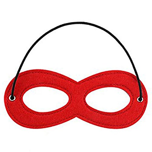 Great Adult Costumes (CANSHOW 1 Piece Red Superhero Felt Eye Mask, Adjustable Elastic Rope Half Masks - Great For Party Cosplay Accessory)