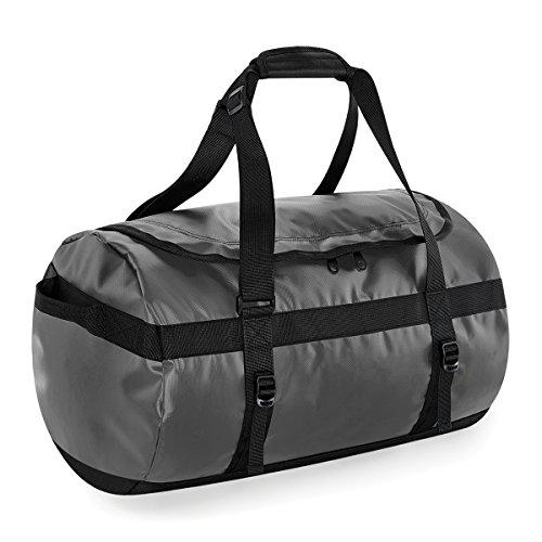 Bolsa de viaje BagBase de Tarp 50 litros de lona 53x33x33cm Negro grey